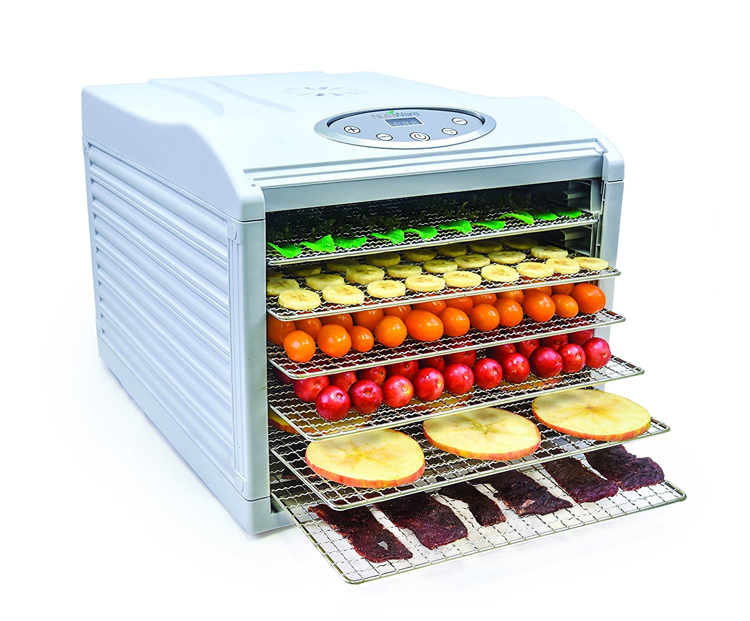 Aroma NutriWare Digital Control 6 Tray Food Dehydrator with Stainless Steel Trays