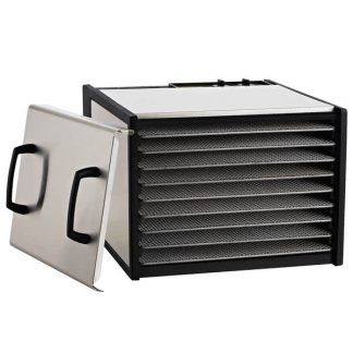 Excalibur 9-Tray Stainless Steel Dehydrator w/Stainless Steel Trays and Door Model D900SHD