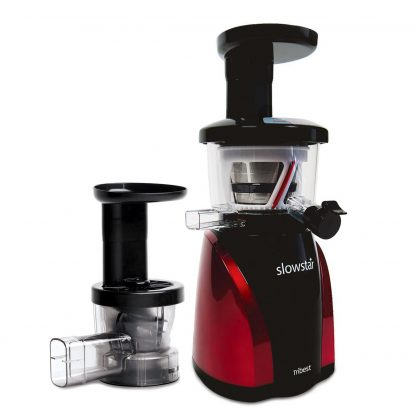 Slowstar Vertical Slow Juicer & Mincer, Red and Black