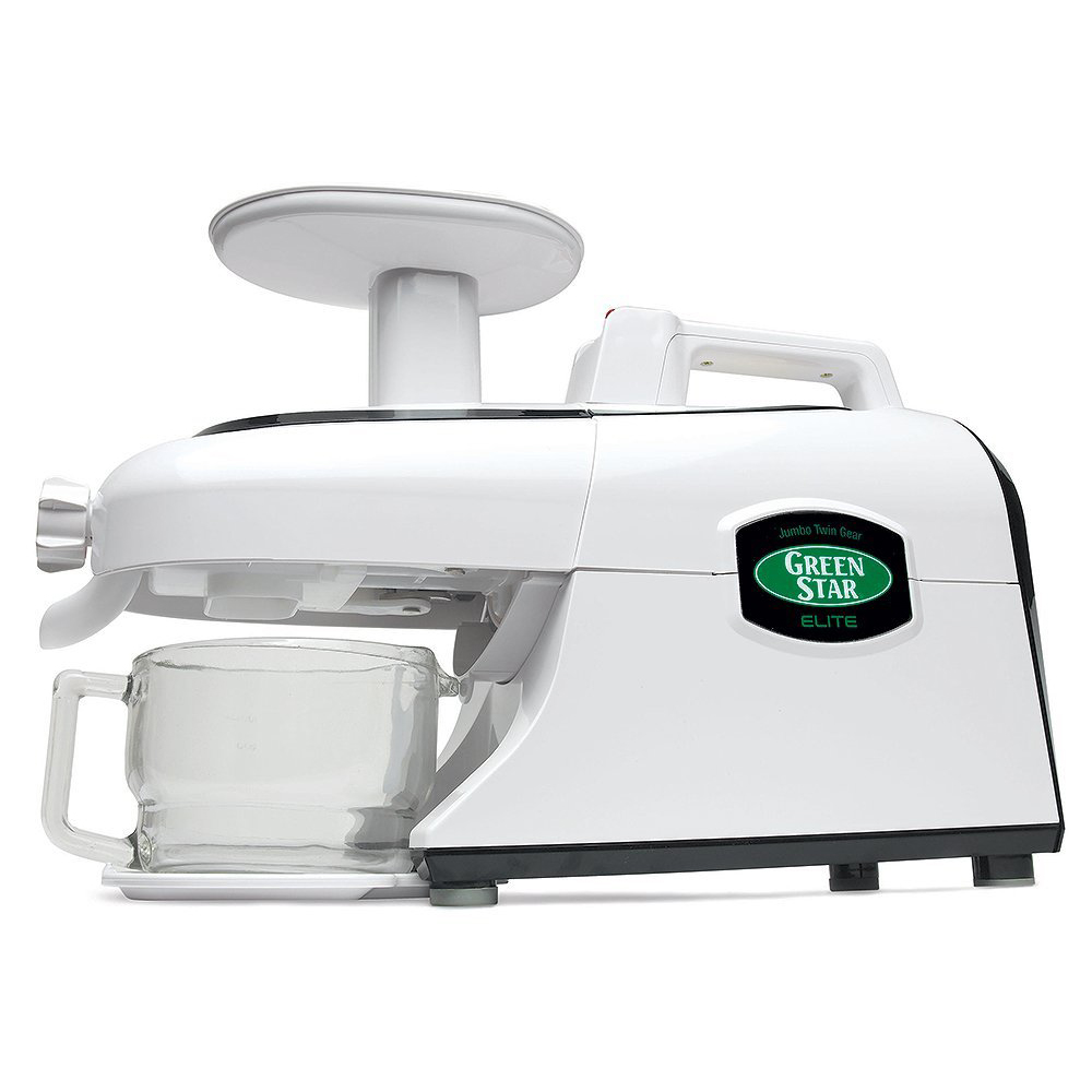 Tribest GSE-5000 Greenstar Elite Cold Press Complete Masticating Juicer, Juice Extractor with Jumbo Twin Gears, White
