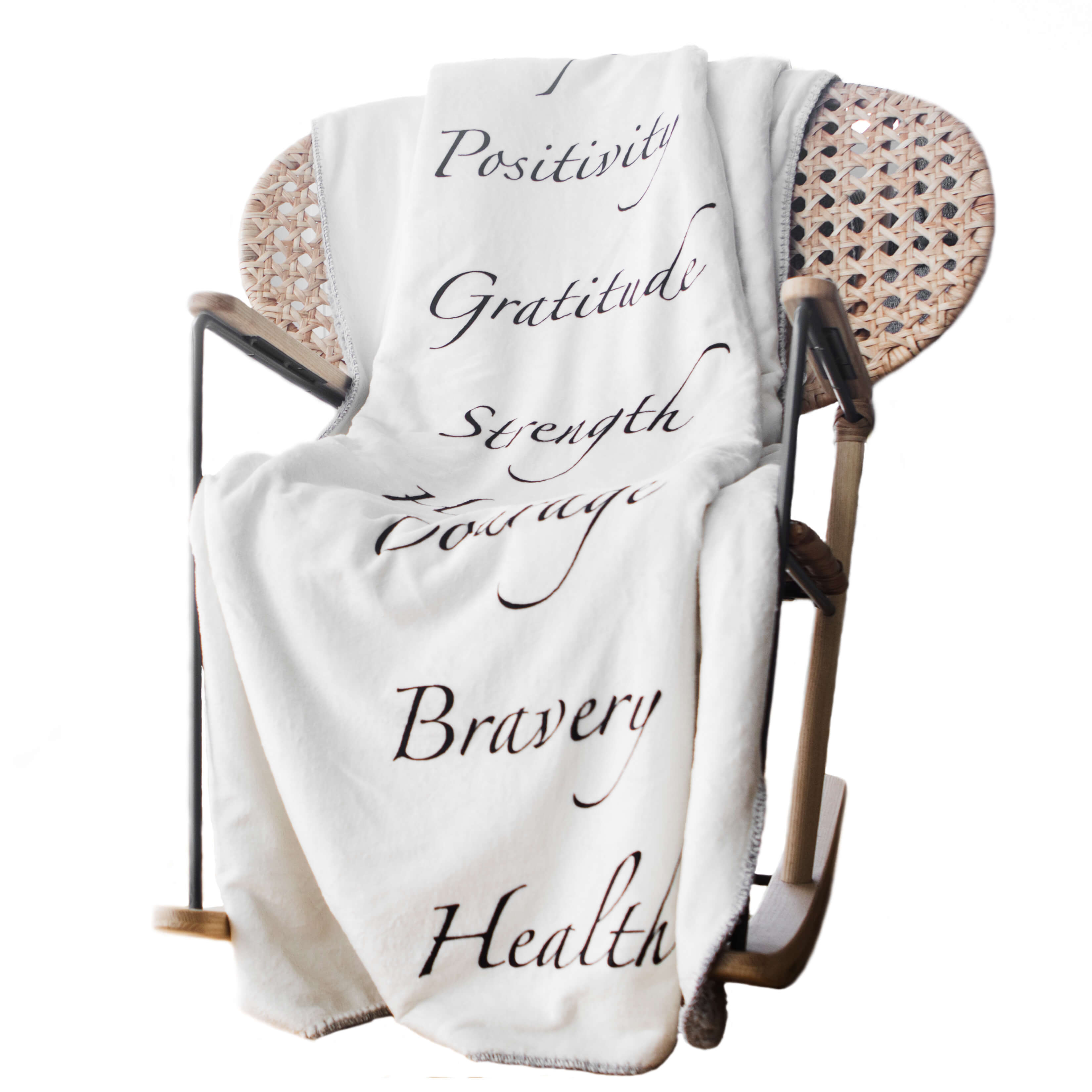 Healing Blanket with Inspirational Message